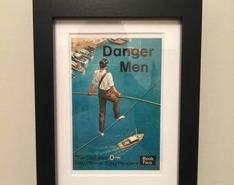 Retro Ladybird Book cover. Danger Men