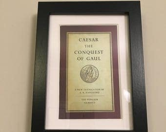 Classic Penguin Book cover print- framed - Caesar - The Conquest of Gaul