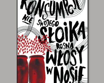 """Poster """"Od konsumpcji nie swojego..."""" - pouczajka 3"""