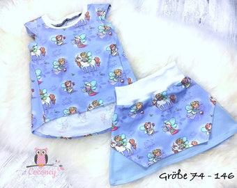 TShirt shirt and skirt set