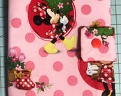 Play Pack Activity Case / Travel Activity Pouch / Marker Pencil Pouch / Crayon Case / Pencil Pouch - Minnie Mouse Smell the Flowers