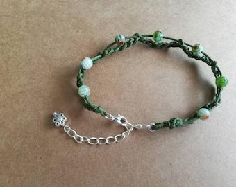 Greenfingers beaded crochet bracelet