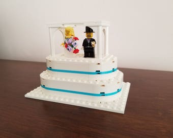 Lego Wedding Cake With Blue Icing
