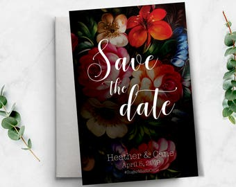 Save The Date invitation Template, Save the Date Postcard Template, Save the date wedding invitation, Template Save the date