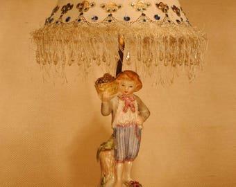 Vintage Figurine Boudoir Lamp