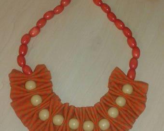 Seshoeshoe fabric and bead necklace