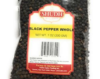 Black Pepper whole 7oz (200GM) free shipping