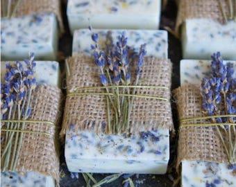 Home made all natural lavender bar soap