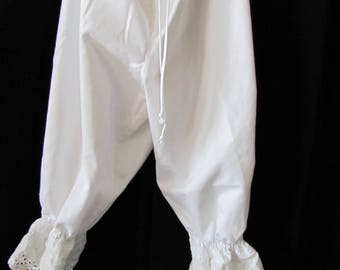 Upcycled Bloomers, pantalettes, drawers, stage costume, cosplay, knickers. historical, wagon train, trek, pioneer (small-extra small)