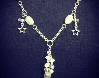 Magical Moonstone Star Charm necklace