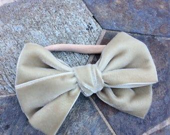 Big vintage velvet bow