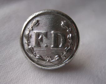 Fire department Uniform Button Gaunt London