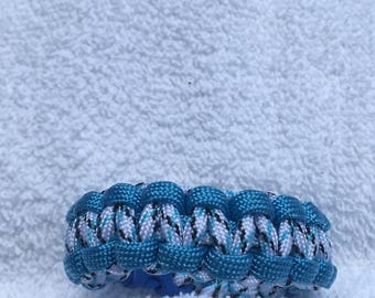 Blue Mint Paracord Bracelet