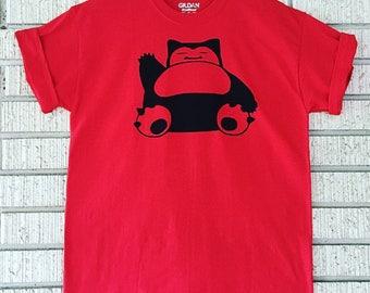 Snorlax Shirt, Team Valor Shirt, Red Snorlax, Pokemon Shirt