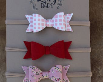 Valentine's Day Dainty Felt Bow Collection