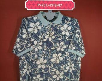 Vintage Ocean Pacific Sport Shirt Hawaiian Shirt Floral Multi Colour Size L Made Turkey Flower Shirts Hawaiian Shirts Beach Sun Surf Shirts