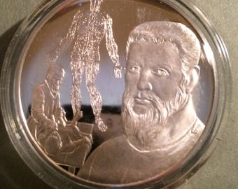 Andreas Vesalius - Sterling Silver History of Science (Proof)
