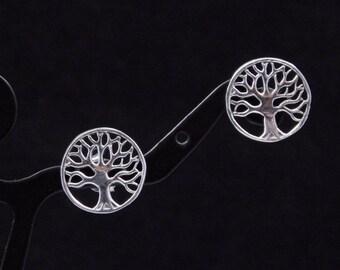Sterling Silver Tree of Life Earrings post back earrings