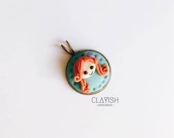 Disney Mermaid Ariel Polymer Clay Handmade Charm Necklace