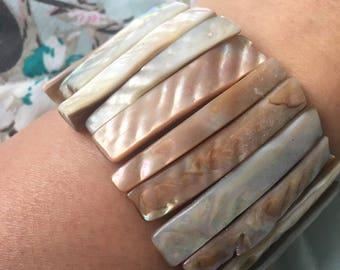Vintage Shell Cuff Bracelet.