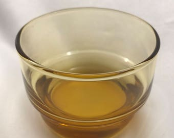 Small Vintage Stackable Amber Glasses