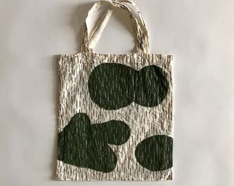 Hand painted rain camo eco bag (M)