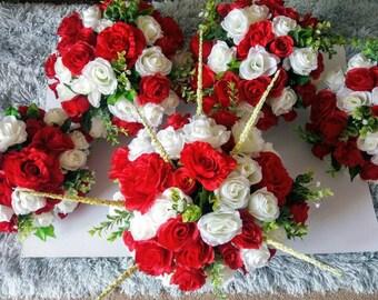 Funeral grave tribute pot flowers artificial