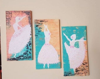 Ballet dance sectional texture painting