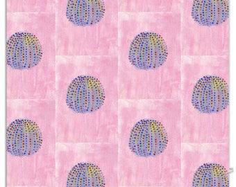 Throw- Blue Anemone on Pink