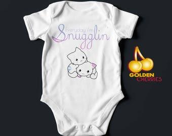 Everyday im Snugglin baby onesie T-shirt / Onesie / Bodysuit Gift Idea