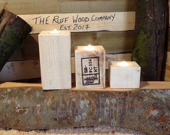 Reclaimed, Pallet Furniture, Candle Holder, Tea Light Candle Holder, Home Decor, Handmade Rustic.