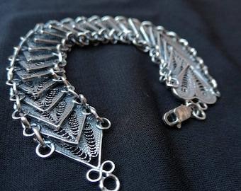 Silver filigree bracelet. RB17-35g
