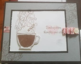 Sending a coffee gift card? Why not add this for that personal touch??