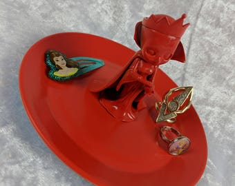 Red Queen Villain Jewellery Tray Red