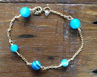 Blue Earth Simple Bracelet