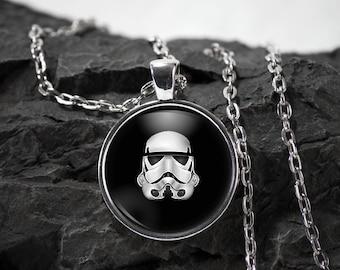 Star wars Glass Pendant stormtrooper necklace superhero star wars jewelry stormtrooper gift photo pendant art pendant photo jewelry glass