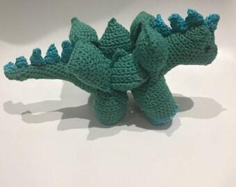 Handmade Crochet Dinosaur Puzzle Soft Toy