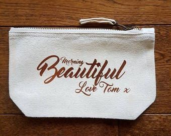 Personalised Morning Beautiful Makeup Bag
