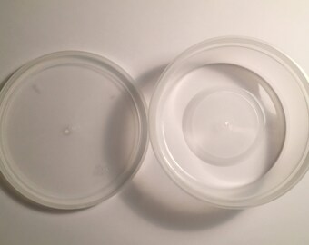 2 8oz Plastic Containers