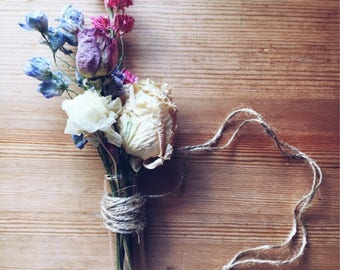 Test Tube Floral Arrangement