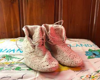 Boho Free People style crochet booties