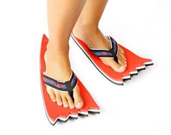 flip flops red monster