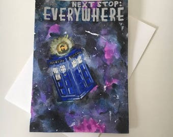 Next Stop: Everywhere Dr. Who Greeting Card