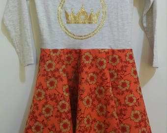 Size 5 L/S Golden Crown Dress