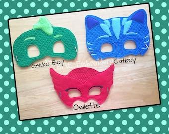 PJ Masks Masks Masks-HalloweenMask/Costume-Dress Up-Pretend Play- Birthday Party Favor-Theme Party-PJ Masks Party-Catboy-Gekko-Owlette Masks