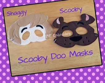 Scooby Doo - Shaggy- Inspired Felt Masks- Child's Dress Up and Imaginary Play- Birthday Party Favor-Photo Shoot-Pretend Play-Theme Party