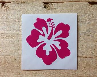 Hibiscus Vinyl Decal