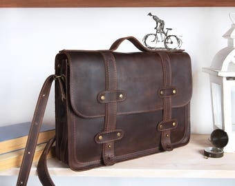 Brown briefcase,Mens briefcase leather,Womens leather briefcase,briefcase laptop 13,Leather laptop bag,laptop bag 13 inch,laptop bag leather