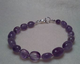 Beaded bracelet Amethyst