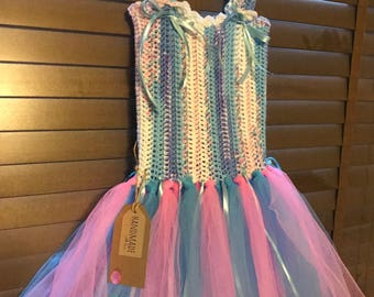 Handmade pink and blue tutu aged 2-4 years